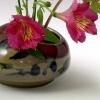 Db3 glazed IKI with Red grass, Caladium and alstromeria blooms