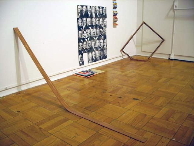 Installation View (Bent Wood)