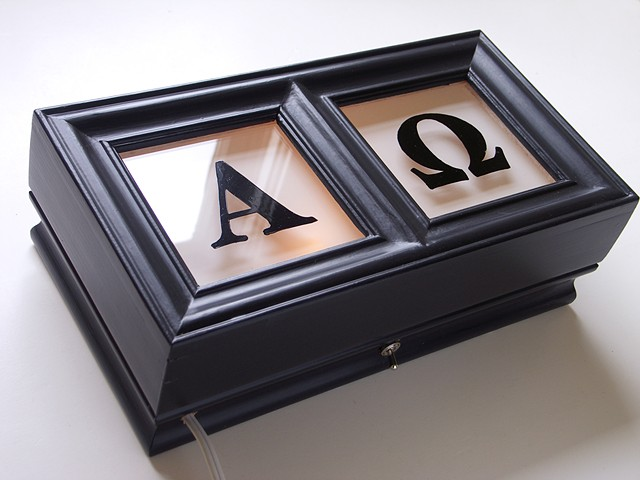 alpha and omega light box eyechart by michael paulus