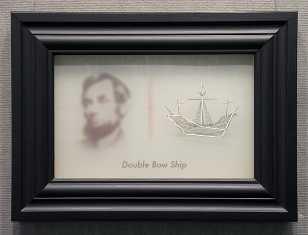 double bow ship with abraham lincoln by michael paulus