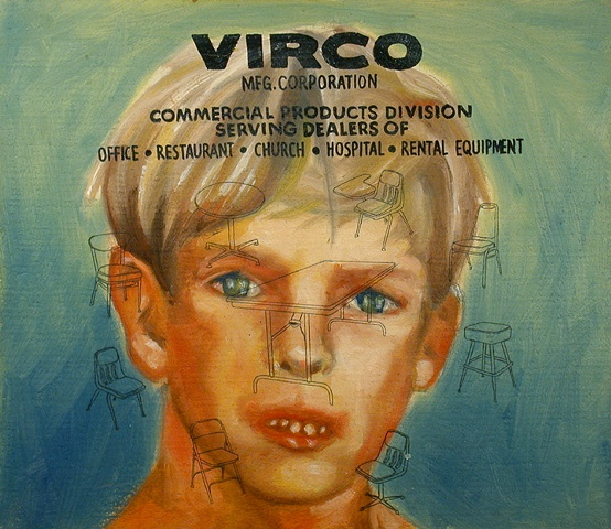 virco corporation oil on panel by michael paulus