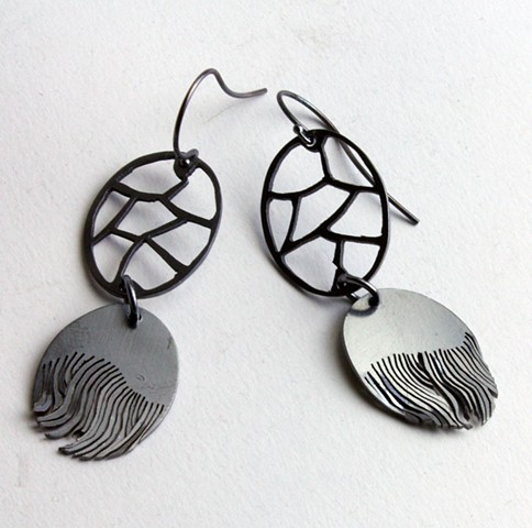 Fringe Double Oval Earrings