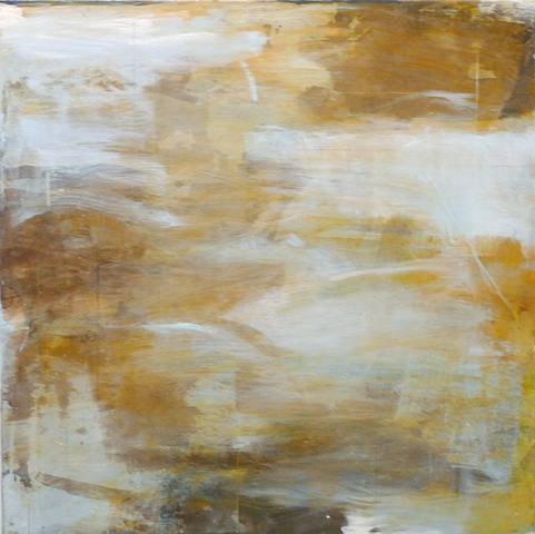 abstract gray ochre layered nature landscape dream