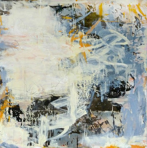 calligraphic abstract expressionist oil painting