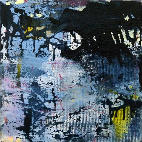 small paintings drips abstract scraped blotted