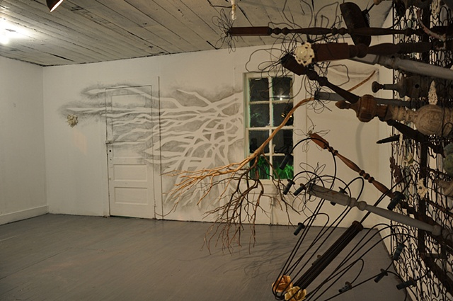 Bed, Branch, Drawing