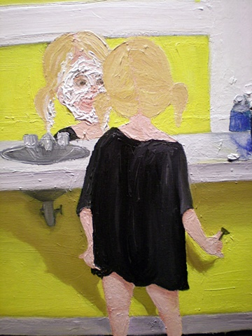 Girl Shaving (detail)