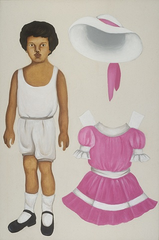 Mulatto Boy with Pink Dress