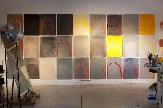 studio, west wall, 3/17/14