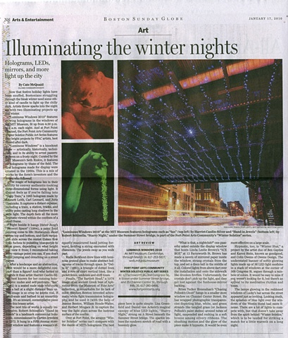 the Boston Globe 1/17/2010
