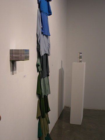 Installation shot of Soundscape, Shirtscape and Landscape Painting
