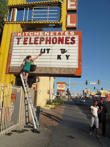 Sign Installation, Las Vegas, 2009