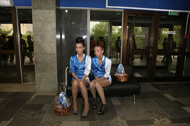 Cigarette Girls Offering Free Samples