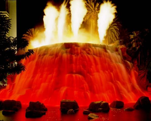 Volcano Fountain, Las Vegas