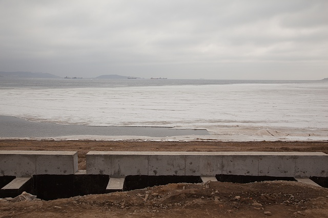 View from Construction Site, Russkiy Island