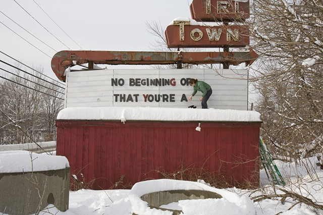 Sign Installation View, Fitchburg MA, 2009