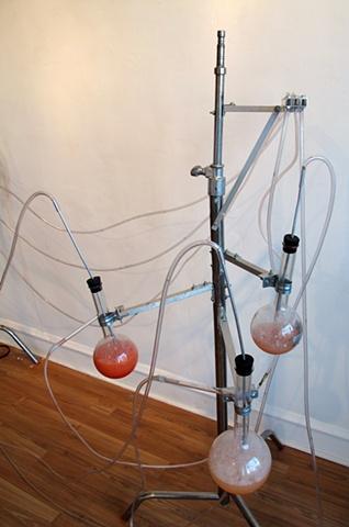 Mark Porter kinetic sculpture, kinetic sculpture, Mark Porter, performative sculpture, found objects, chicago, machine, kinetic mechanical sculpture