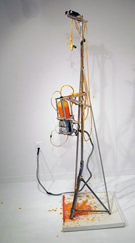 Mark Porter, kinetic sculpture, stalagmite