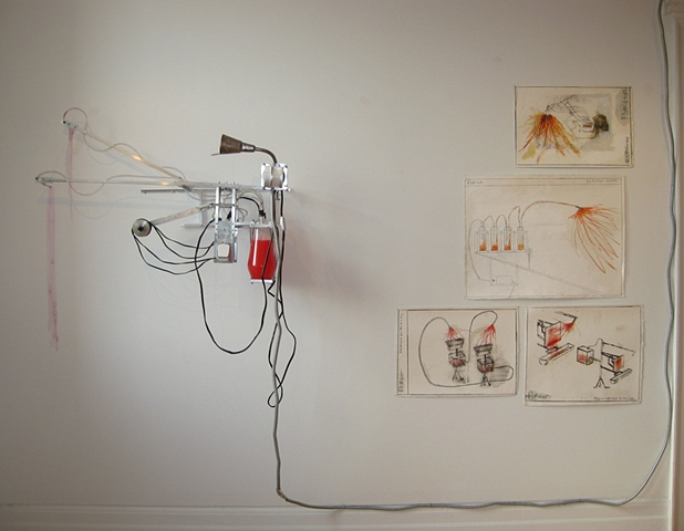 Mark Porter/kinetic sculptures/preliminary drawings