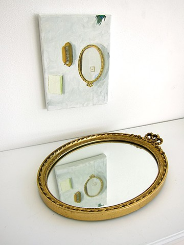 Portrait of the Favourite (installation with mirror)