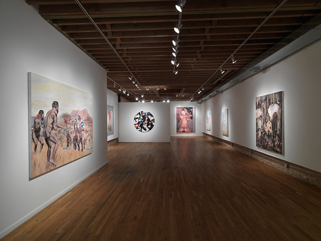 Shot of 'May Flowers' solo show at Linda Warren Gallery