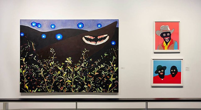 Installation shot from The Ryan Kortman Collection. Night Walk, Night Shiner and Buddies at Urban Institute of Contemporary Art.