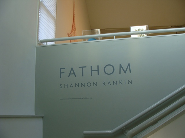 Photograph of signage for Fathom exhibition at the CMCA by Shannon Rankin