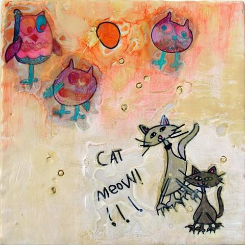 Owl Cat Meow