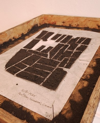 Paper/Charcoal (Original street layout of Puji Road site)