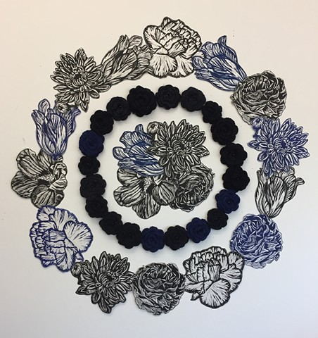 Black and Blue Mandala