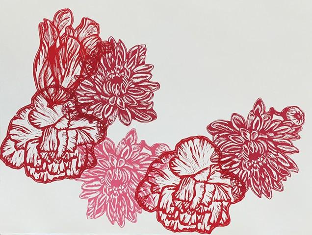 Red Flowers III