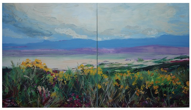 Vista and Spring (diptych)