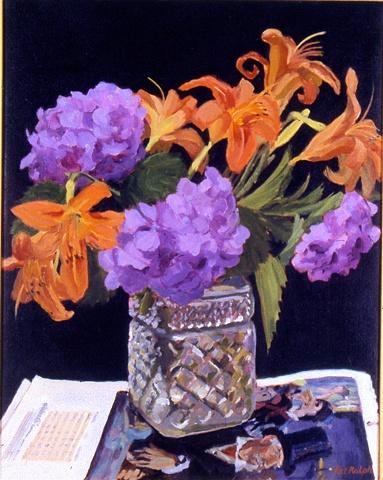 Hydrangeas and Daylilies