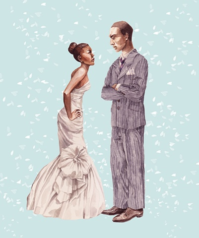 Uptown Magazine,Weddings,Weddings Issue,etiquette,tips,brides,grooms,guests,watercolour,illustration,Melinda Josie