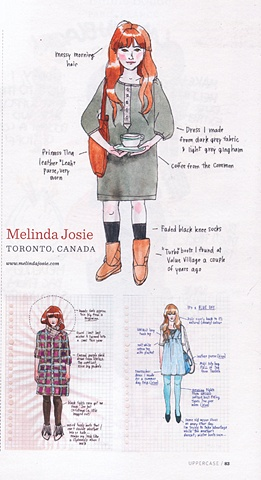 Uppercase,Magazine,drawing,What I Wore Today,Flickr,Gemma Correll