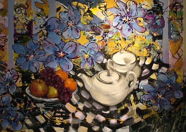 Tea in the Sunroom
