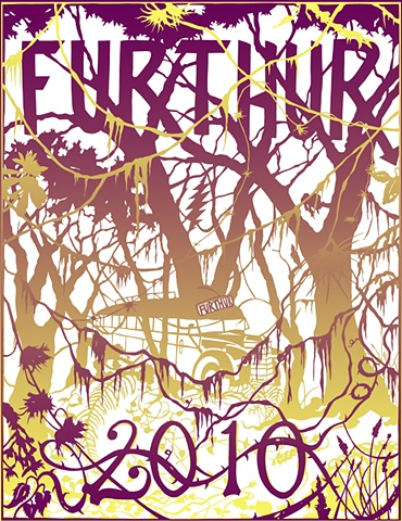 Furthur Poster II (Maroon & Yellow)