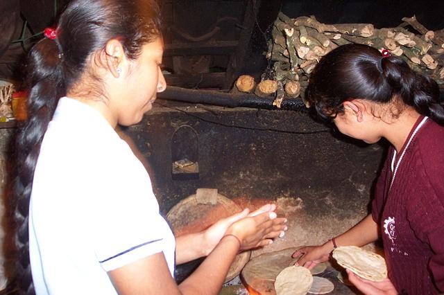 Alma & Maribel Making Tortillas