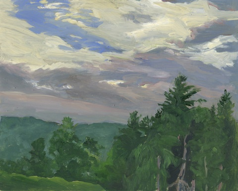 Tanglewood landscape, painted on site