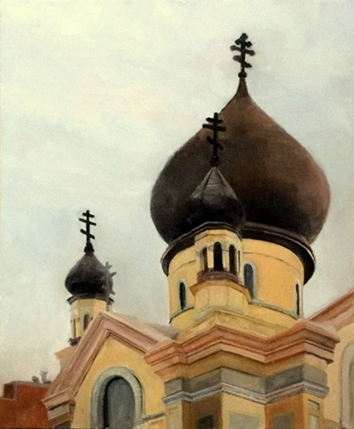 The Russian Orthodox Church in Williamsburg, Brooklyn.  An actual national historic landmark.