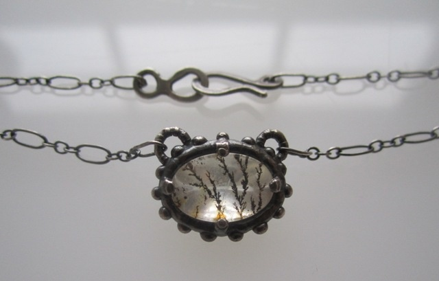 Dendritic Quart Necklace with Dots