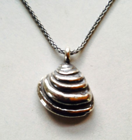 Pawley's Shell Pendant on Sterling Wheat Chain