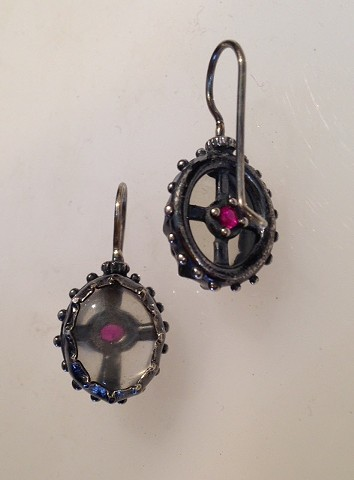 Georgian Moonstone Reliquary Earrings