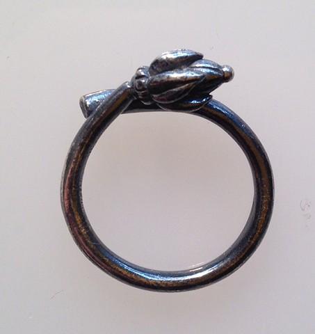 Bud Ring in Sterling