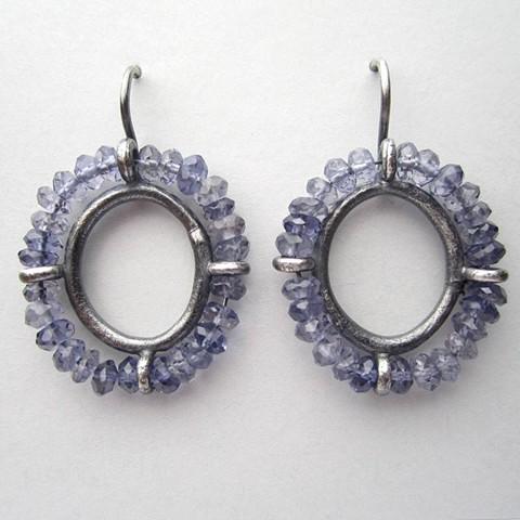 Blue Portrait Earrings