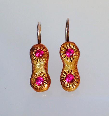 Double Stone Earrings