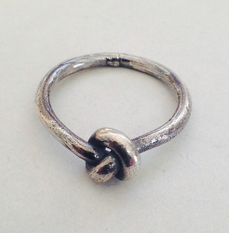 Sterling silver ring knot