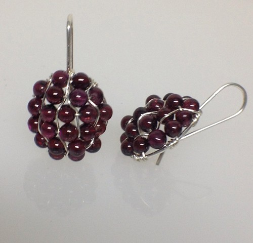 Pompeiian Garnet Earrings