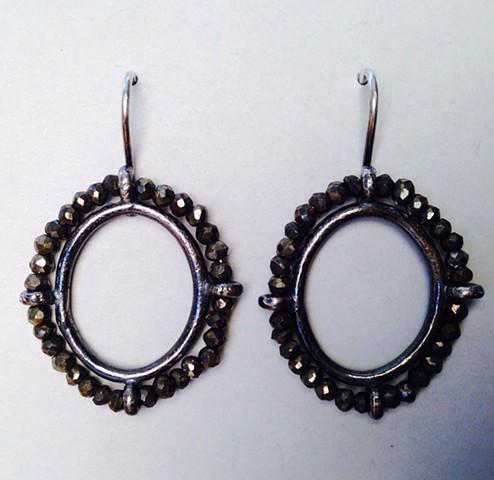 Pyrite Portrait Earrings