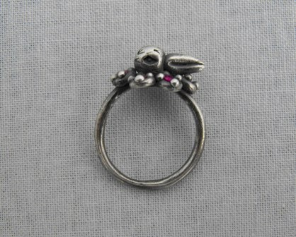Duck Ring with Ruby Ruffle